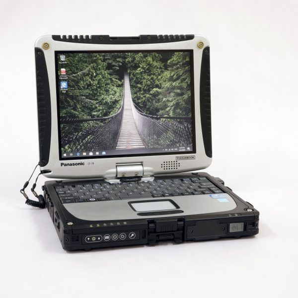 An image of a cf19 toughbook with the revivedit logo