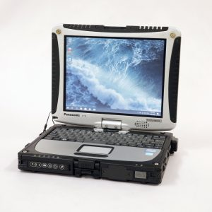 An image of a panasonic toughbook cf19 in laptop mode