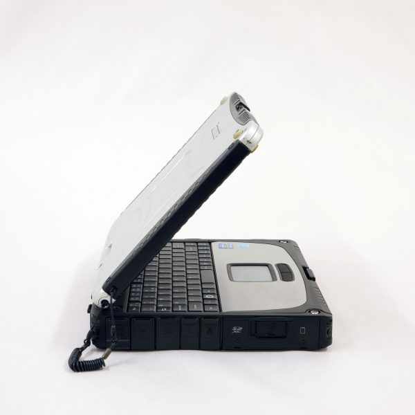 A photo displaying the left hand side of a cf19 toughbook.