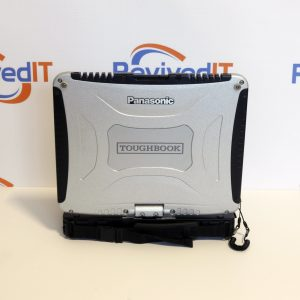 A photo displaying the top cover of a cf19 fully rugged toughbook