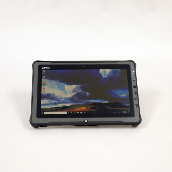 A rugged laptop designed for outdoor and extreme conditions.